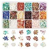 NBEADS Aproximadamente 8500 Pieza de Perlas de Chips de Piedras Preciosas, 18 Estilos de Pepita de Irregular Natural Sin Perforar Cuentas Sueltas Piedra de para la Fabricación de Joyas, 2-8mm