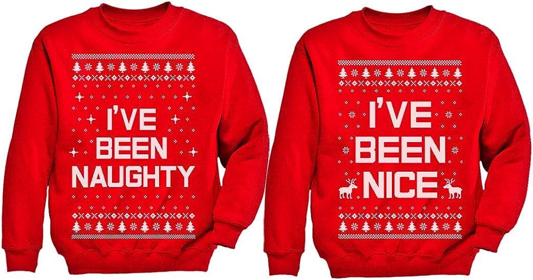 Xmas Nice  Naughty List Ugly Christmas Set Funny Holiday Kids Y