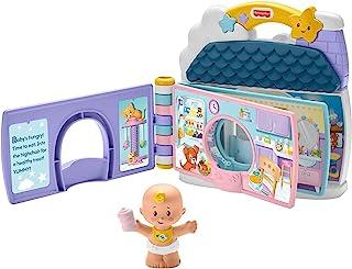 Fisher-Price Little People Baby 's Day Story Set, 2 en 1 libro y juego con figura de bebé para niños pequeños y niños en edad preescolar