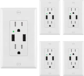 UL Listed and Comes with Wall plate and Screws. Brown 10 Pack ESD Tech 20 Amp GFCI Wall Outlet Receptacle 125 Volt Tamper Resistant Duplex with LED Indicator Light