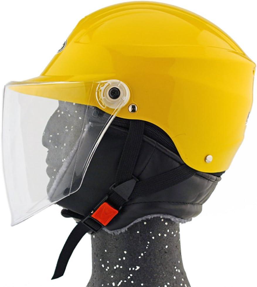Moto Moto Scooter Moto Cyclomoteur Vélo électrique automobile Tête travail protection sécurité bedeckung Helmet Chapeau d'hiver 301–1Jaune