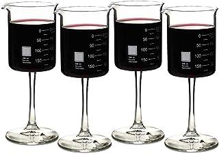 شیشه های شراب آزمایشگاهی کارد و چنگال دوره ای