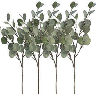 NAHUAA 2pcs Eucalyptus Artificielle Plante Artificielle Bouquet dEucalyptus Feuille en Tissu Faux Eucalyptus pour Cimeti/ères Les D/écorations Interieure et Exterieur Maison Jardin Balcon