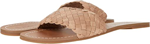Warm Nude Tumbled Leather/Cow Suede