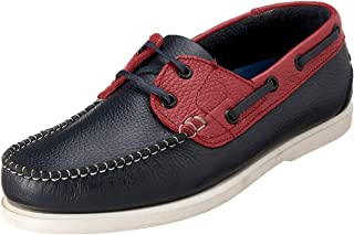 Salerno Lace-Up Two-Tone Leather Boat Shoes for Men