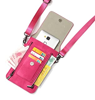 Samsung Galaxy S9 Plus Leather Wallet Case Galaxy Note 9 Case iPhone X Purse Case Cell Phone Crossbody Gril Bags Waist Bag...