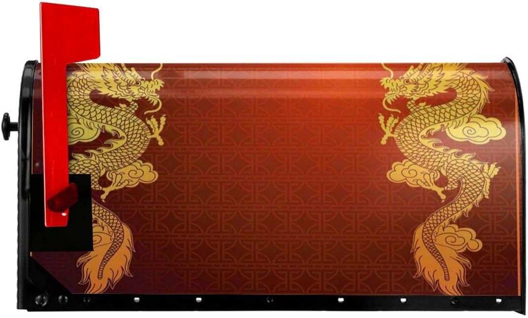 """OFFicial Miami Mall mail order NCXIAO Magnetic Mailbox Cover - Chinese x 25.5""""H 21""""W"""