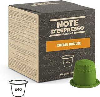 comprar comparacion Note D'Espresso - Cápsulas de bebida de crème brûlée, 6g (caja de 40 unidades) Exclusivamente Compatible con cafeteras Ne...