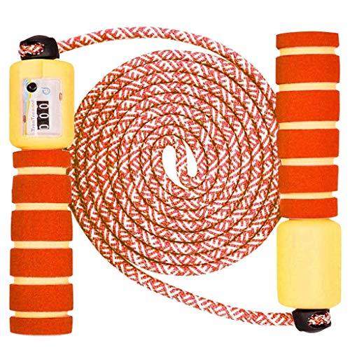 Sinwind Springseil Kinder, Springseil mit Zähler & Komfortablen Griffen Speed Rope Skipping Rope für Fitnesstraining und Boxen (Orange)