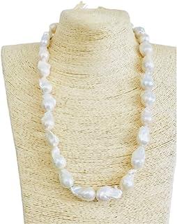 Collana di gran classe con perle scaramazze 14-16mm di 1'scelta.
