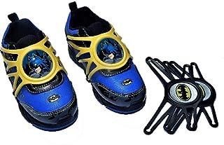 BM Batman Toddler Boy's Athletic Light Up Shoes with Interchangeable Plastic Laces