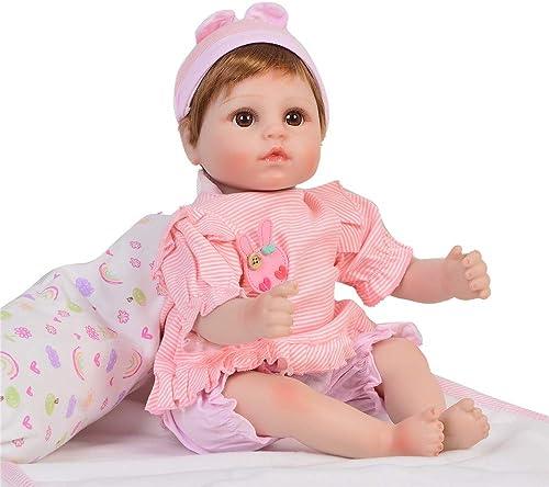 MCCW Neugebore Puppe wiedergeborenen Baby 17 Zoll Stoff  niedlichkeit Simulation Baby Upscale Puppe
