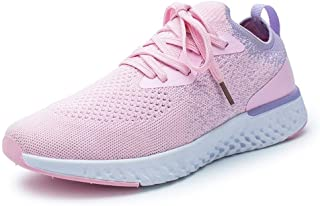 Shoes Female 2019 Spring New Wave Summer Breathable Sports Shoes Female Students Single Shoes Casual Shoes (Color : Pink, Size : 36)