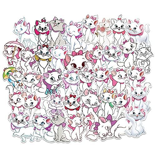 57 unids dibujos animados M a r y gato Doodle etiqueta engomada portátil maleta guitarra coche motocicleta decoración etiqueta