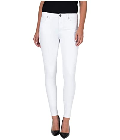 KUT from the Kloth Mia High-Rise Toothpick Skinny Jeans in Optic White (Optic White) Women