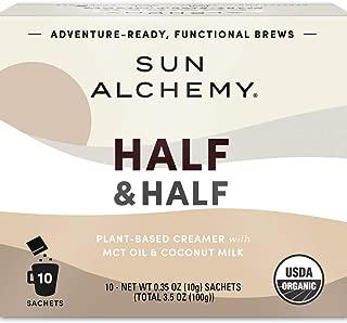 Sun Alchemy Organic Half & Half Powder, Dairy-Free Superfood Creamer (Unsweetened) - 10 Sachets