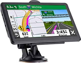 GPS Navigation for Car, Latest 2021 Map 7 inch Touch Screen Car GPS 256-8GB, Voice Turn Direction Guidance, Support Speed ... photo
