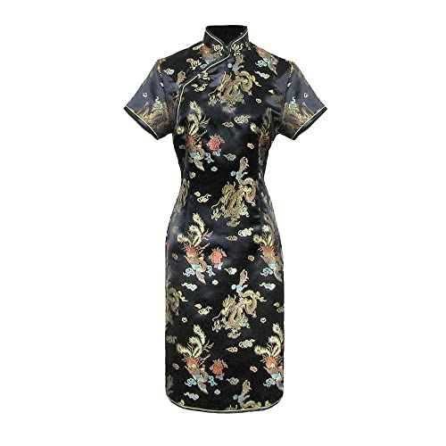 Women s Chinese Short Sleeve Cheongsam Qipao Evening Dress df94331df7f3