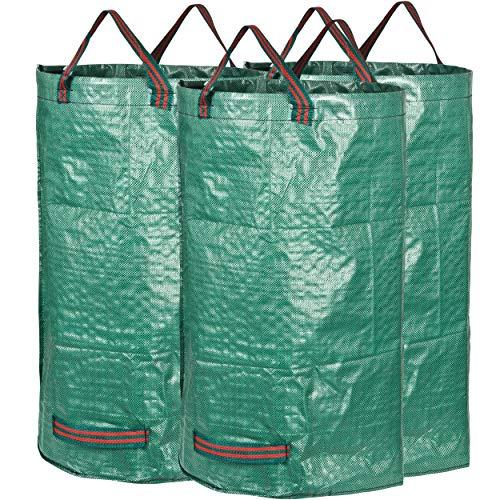 GardenMate Gartensack aus robustem Polypropylen-Gewebe (PP) 150gsm, 120l, 3 Stück