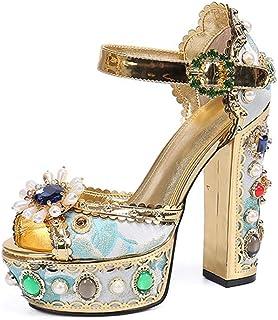 Fashion Diamond And Sandals in Europe qnd America, Elegant Temperament And Elegant Sparkle Roman Style Summer New Women's ...