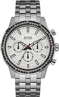ساعة رسمية جيس للرجال w0801g1 - بعقارب، معدن فضي