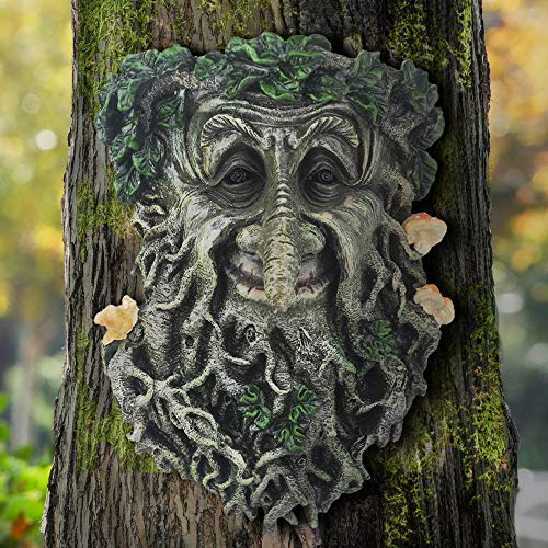 BSBJJ Old Man Tree Face Sculpture, Whimsical Tree Hugger Staute - Suitable to Outdoor Yard Garden Decor, 9'x6.5'