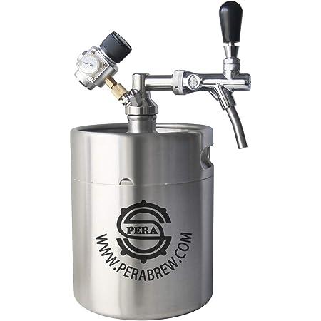 5L Homebrew Growler Beer Keg Stainless Steel Keg Style Beer Growler Keg