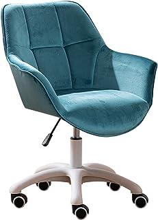 Silla de Escritorio de Oficina ergonómica Silla de oficina para el hogar, dormitorio, silla giratoria para tocador, ergonómica, con respaldo medio, silla de estudio, altura ajustable, con reposabra