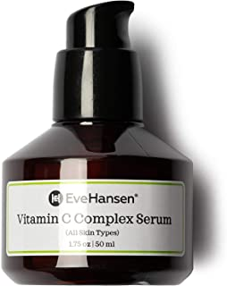 Vitamin C Serum with Vitamin E & Ferulic Acid by Eve Hansen - Natural and Pure Anti Aging Serum that Protects Against Sun Damage and Wrinkles. 1.75 Ounces.