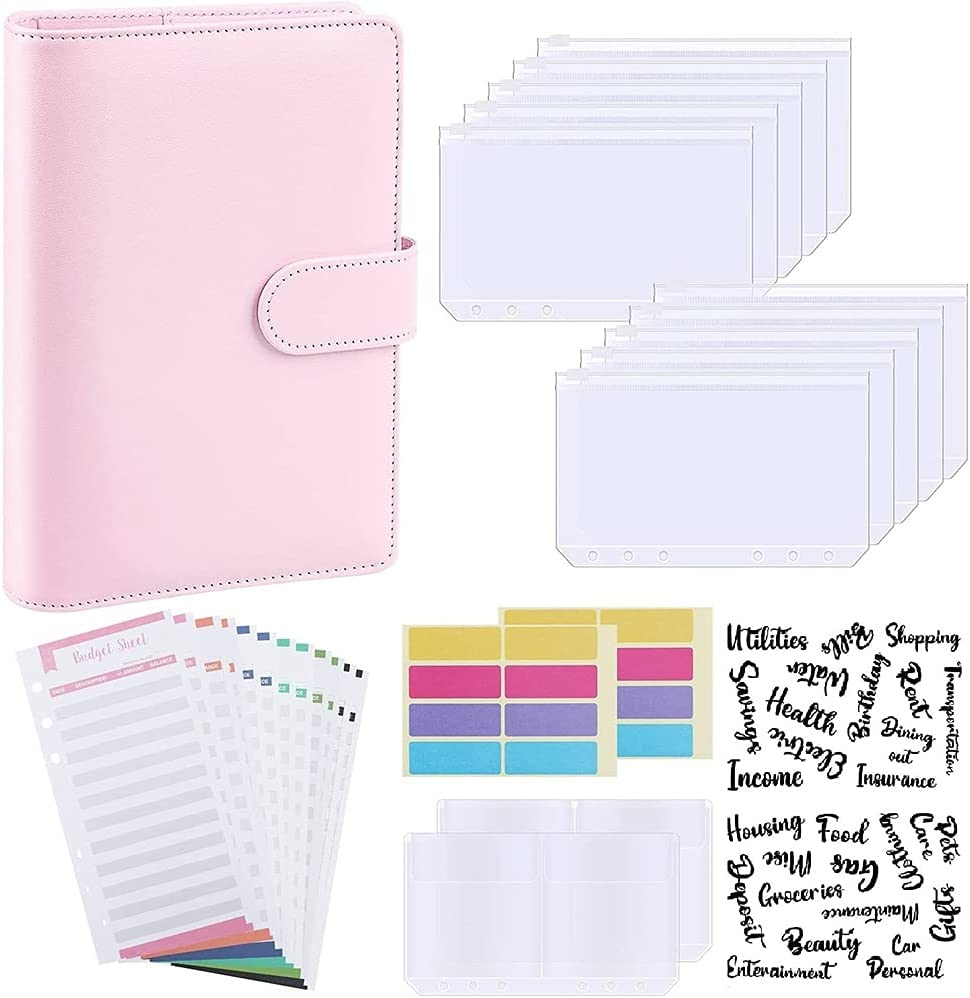 Factory outlet Tamkyo Budget Binder A6 PU R Organizer Notebook Planner Max 76% OFF Leather