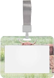 Porte-badges d'identification Titulaire de carte d'identification de veaux de bétail des Highlands avec porte-badge de sty...