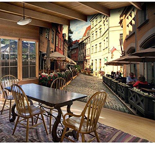 WH-PORP Custom Photo Papel pintado 3D Papel pintado Bakers Street Restaurant Cafe Fondo de pantalla de papel tapiz para la sala de estar-400cmx280cm