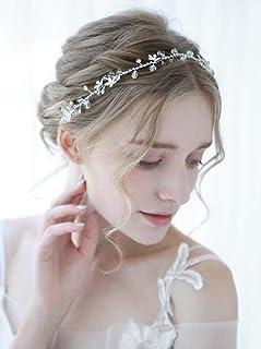 FXmimior, accessorio per capelli fatto a mano, accessorio per capelli con strass a forma di rampicante, per donna, tiara n...