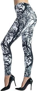 Ndoobiy Printed Leggings Basic Patterned Leggings Workout Leggings Women Girls Spandex Leggings L2