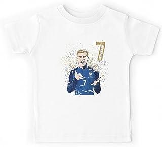 b4be90ad66616 fashion boutik Tee Shirt Maillot garçon Enfant Foot Football Coupe du Monde  Antoine Griezmann