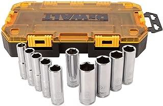 DEWALT Drive Socket Set, Metric, 1/2-Inch Drive, 23-Piece (DWMT73815)