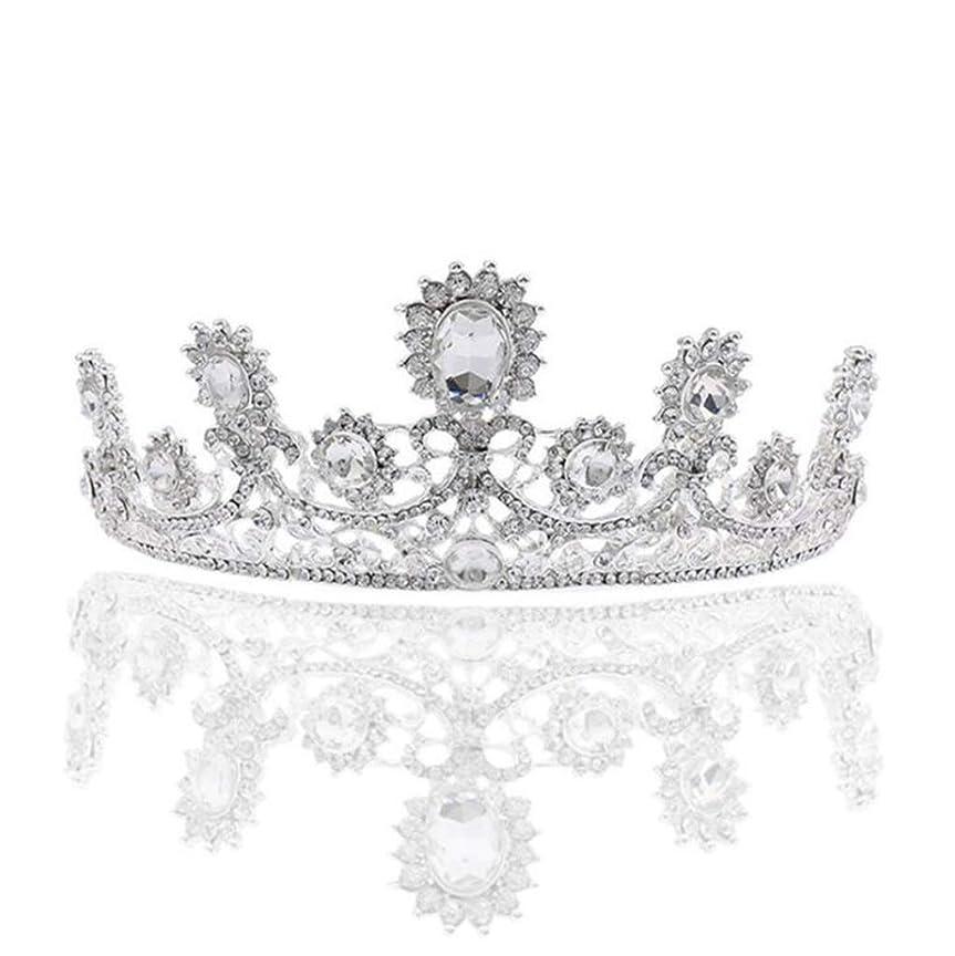 に対応するライトニングで出来ている髪の王冠の花嫁の頭飾り白のユニークなクリスタルクラウンの女王高級合金の髪の王冠の花嫁のドレスの宝石類 (色 : A)