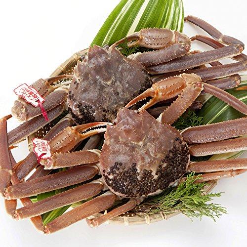 日本海市場 贈答用タグ付き 特上松葉ガニ(ズワイガニ)姿 大サイズ2枚(活1.6kg前後)「本物」の松葉ガニを産地直送でお届けします お歳暮 ギフト対応