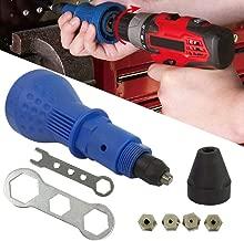 Nrpfell Pistola remachadora Kit de herramientas para remaches Pistola de tuerca remache electrico Kit de adaptador de taladro Herramientade remachado Herramienta electrica