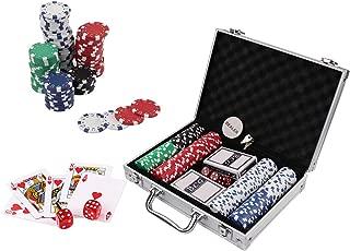 Doublefan Poker Chips Set, Heavy Duty 11.5 Gram Clay Poker Chips Set Texas Holdem Blackjack Gambling Chips Aluminum Case (200pcs)