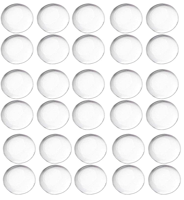 Floranea 50 Pcs 20 MM Cabochons Clear Round Non Calibrated Glass Dome Tiles for Earrings Cameo Pendants Bookmarks Necklace Magnet Jewelry Making Photo Art Craft Project