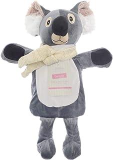 Barn termosflaska med lock 1 L 100 % naturgummi plysch pälsjäl kanin koala ren jul alf regnbåge enhörning present tillbehö...