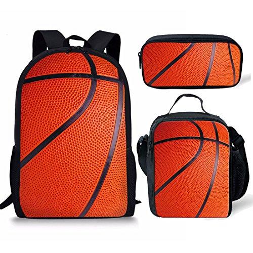 Nopersonaliteit Primaire Student Rugzak School Tas voor Jongens Schooltassen Bown Basketbal Patronen