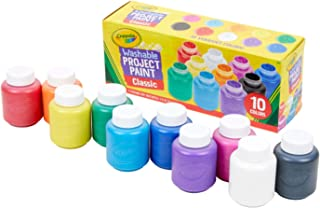 Crayola - 10 pots de peinture lavable - Loisir créatif - peintures et accessoires - à partir de 3 ans - Jeu de dessin et c...