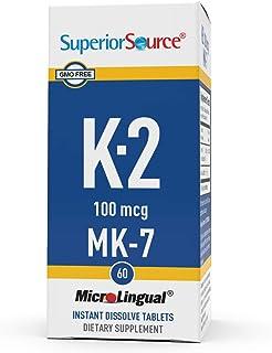 Superior Source Vitamin K2 MK-7 (Menaquinone-7), 100 mcg, Quick Dissolve Sublingual Tablets, 60 Count