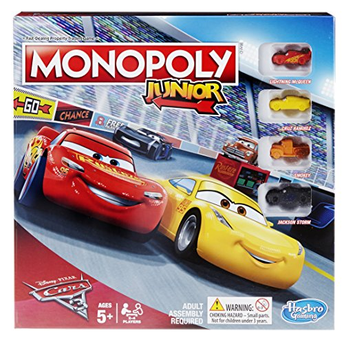 Monopoly C1343102 Junior: Disney Pixar Cars 3 Edition
