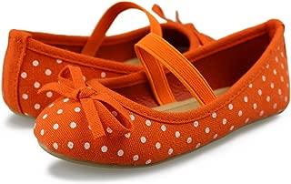 Girls Ballerina Flat Mary Jane Slip on Dress Shoes (Toddler)