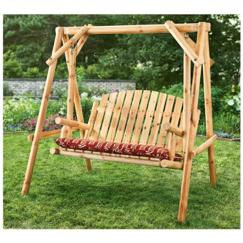 CASTLECREEK 4' Log Swing, 2 Person