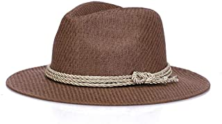 SHENLIJUAN Straw hat Summer Sunshade Cool hat European and American Tide hat (Color : Coffee, Size : 56-58cm)