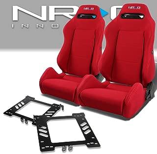 Pair of RSTRLGRD Racing Seats+Mounting Bracket for Volkswagen Golf/Jetta/Beetle Mk4